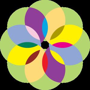 Bunte Kreise Circles Muster