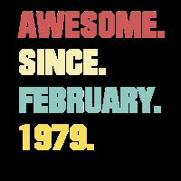 40. Geburtstag Geschenk Super Seit Februar 1979