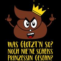 Scheiss Prinzessin Krone Stinkefinger Scheiße