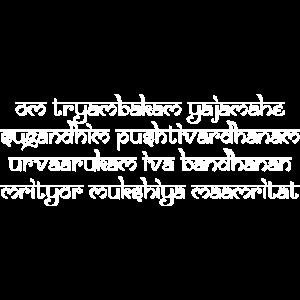 Om tryambakam Mantra white