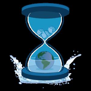 Sanduhr im Bezug auf den Klimawandel