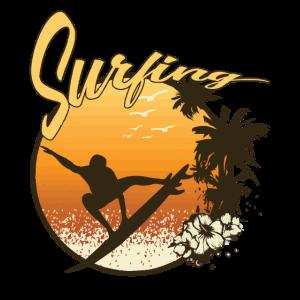 Surfing Hawaii Retro Style