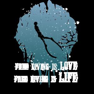 Freediving is Love Apnoetauchen Meer Taucher