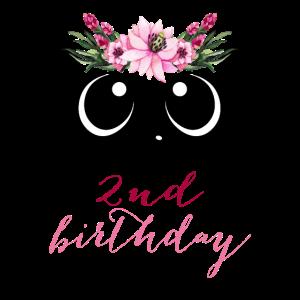 Panda Girl 2. Geburtstag 2 Jahre Kostüm Geschenk
