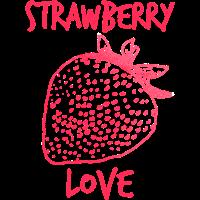 Strawberry love, Erdbeere, Liebe rot