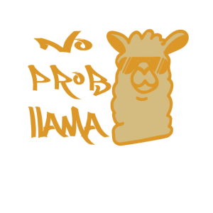 Cooles Lama Alpaka No Prob Llama Fun Spruch Gesche