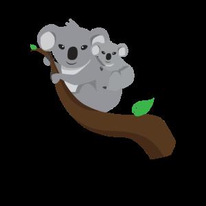 Koala Bär mit Baby