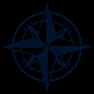 Kompass / Dunkelblau - Design