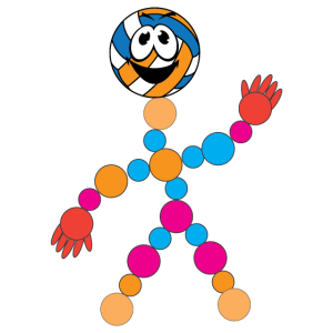 DNA DNS Volleyball Männchen Logo