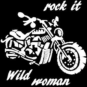 Wild woman. Rock it.
