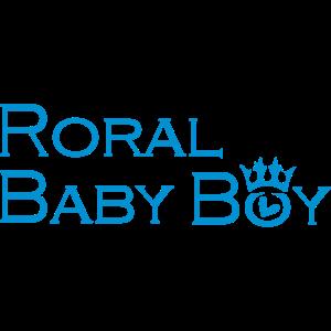 Königliche Baby Text-Logo mit Königskrone