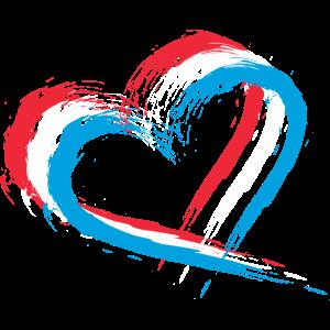 Herz Bürste Flagge Luxemburgs Fahne Luxemburg
