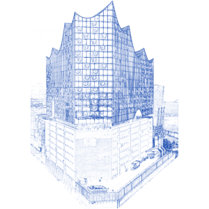 Blueprint Elbphilharmonie Architektur