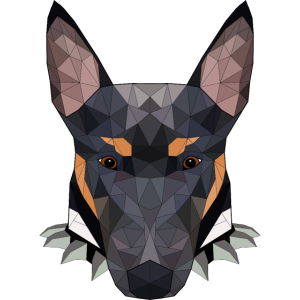 Bullterrier Polygon