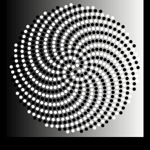 Fibonacci-Spiralmuster in Schwarz und Weiß