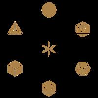 Metatrons Würfel, Platonische Körper, Blume Lebens