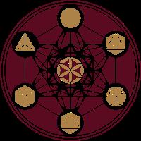 Metatrons Würfel, Platonische Körper, Cube, Blume