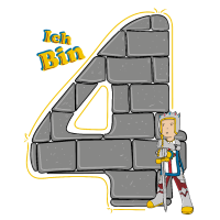 Geburtstagsshirt 4 Jahre Junge Ritter Motiv