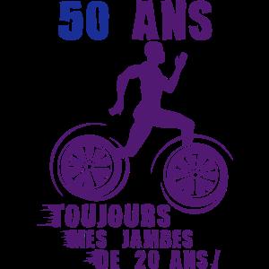 50-jähriger Geburtstag des Sprinter-Athleten