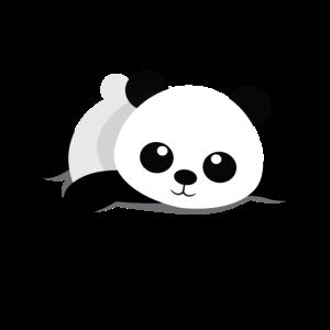 Liegender Panda