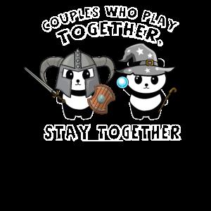 Gamer Paare Partnerlook Cosplay RPG LARP Geschenk
