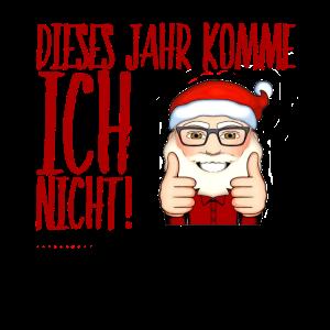 Weihnachtsmann Nikolaus lustiger Spruch