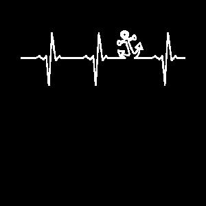 Anker Herzschlag | Puls Herz Frequenz EKG Linie