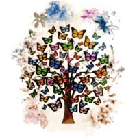 fashion baum tree wald butterfly schmetterling 2re