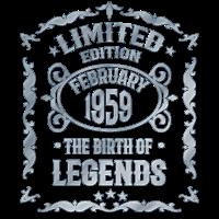 Februar 1959 60. Geburtstag Geschenk - Jahrgang 59