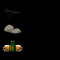Schere Stein paar Bier Malle Party Urlaub T-Shirt