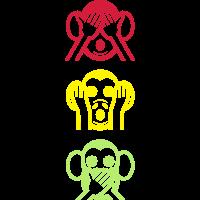 Three Wise Monkeys  Vertikale