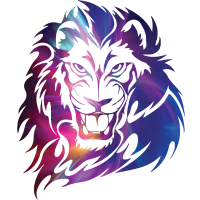 Fantasy Löwe Gesicht Mähne