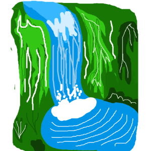 Wasserfall Dschungel Oase Ruhe Meditation Urwald
