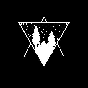 Dreieck Wald Berge Tattoo