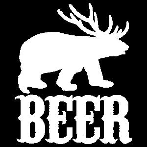Beer Bär Rentier Tier Geschenk Idee