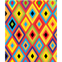 Buntes Muster Rauten