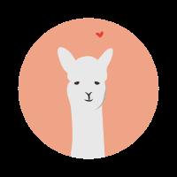Verliebtes Lama Alpaka LLama Tierliebe Geschenk