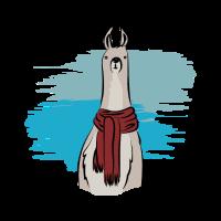 Llama mit Schal Alpaka Team Lama Tierlieb Geschenk