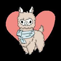 Süßes Lama Alpaka LLama Tierliebe Geschenk