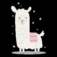 Verträumtes Lama Alpaka LLama Tierliebe Geschenk