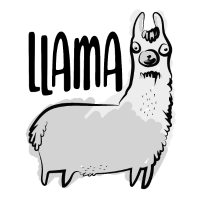 Niedliches Lama Alpaka LLama Tierliebe Geschenk