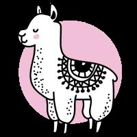 Süßes Llama Alpaka Team Lama Tierliebe Geschenk