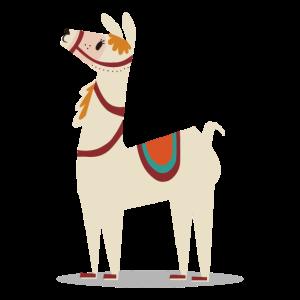 Festliches Lama Alpaka LLama Tierliebe Geschenk