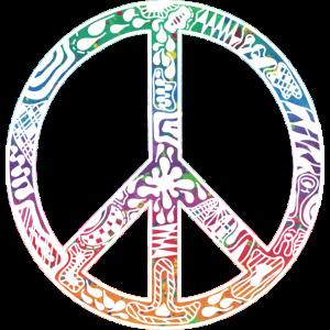 peace Frieden Symbol weiß bunt