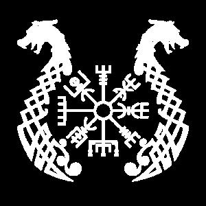 Wikinger Runen Drachen Symbole des Reisenden