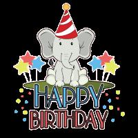 Geburtstag Elefant