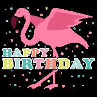 Geburtstag Flamingo