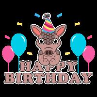 Geburtstag Gürteltier