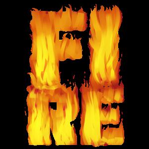 """""""FIRE"""" ~ Schrift Muster Feuer"""