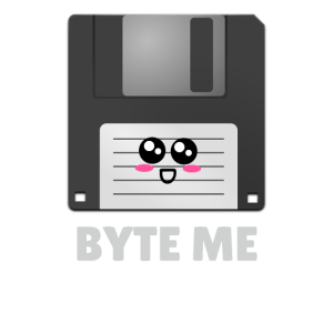 Byte Me Cute Diskette Pun